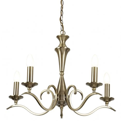 5 Light Pendant In Antique Brass KORA-5AB